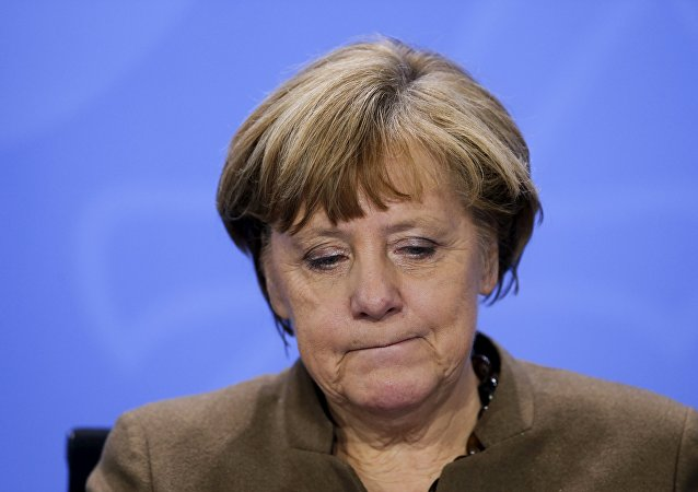 German Chancellor Angela Merkel reacts as she addresses a news conference after a meeting with state premiers at the Chancellery in Berlin, Germany, January 28, 2016