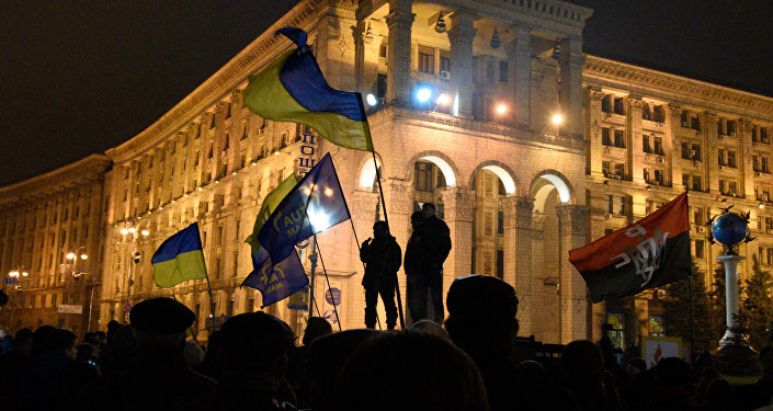 Anniversary of Maidan in Kiev