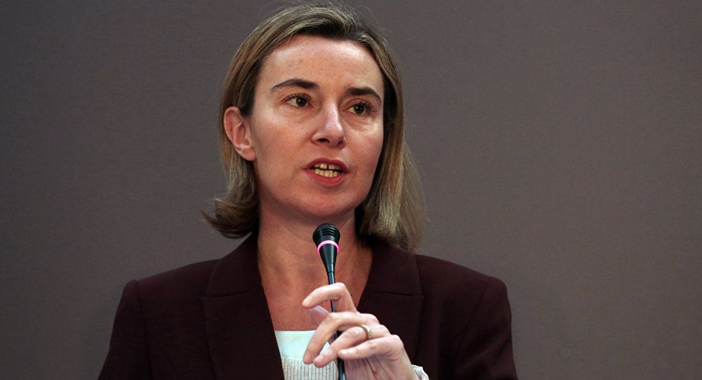 European Union's Foreign Policy Chief Federica Mogherini.