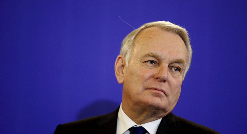Newly-appointed French Foreign Minister Jean-Marc Ayrault reacts as he attends a news conference during the official handover ceremony at the Quai d'Orsay, Ministry of Foreign Affairs, in Paris, France, February 12, 2016.