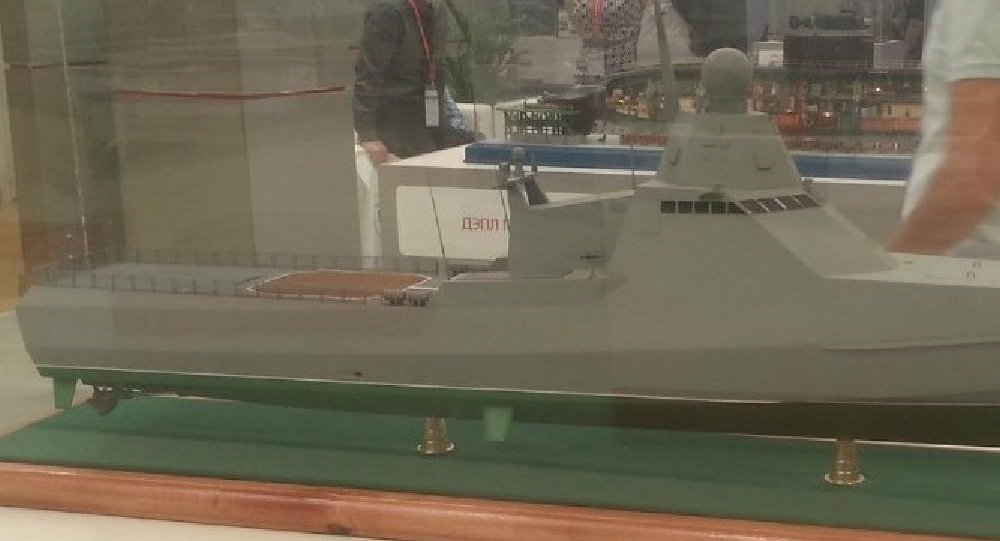 Model of the Russian Patrol Ship Project 22160