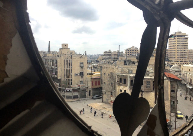 View of the Old Town of Aleppo from the Clock Tower. This 12th-16th-century set of buildings was included into the UNESCO World Heritage list in 1986.
