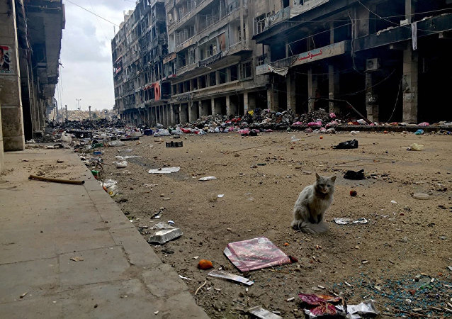 A street in the Old Town of Aleppo.