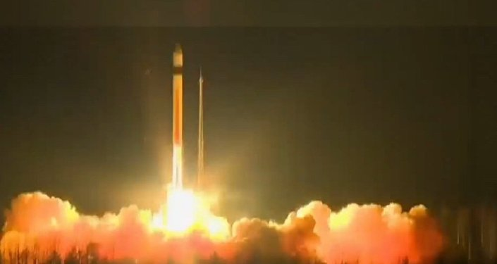 In China crashed rocket with a satellite television