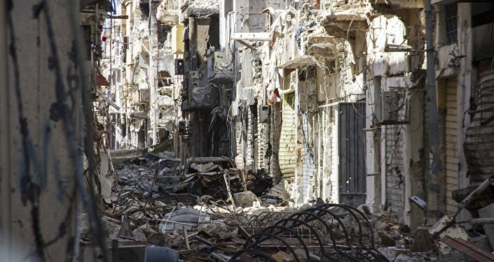 Street is filled with debris and abandoned houses in the city of Benghazi, Libya (File)