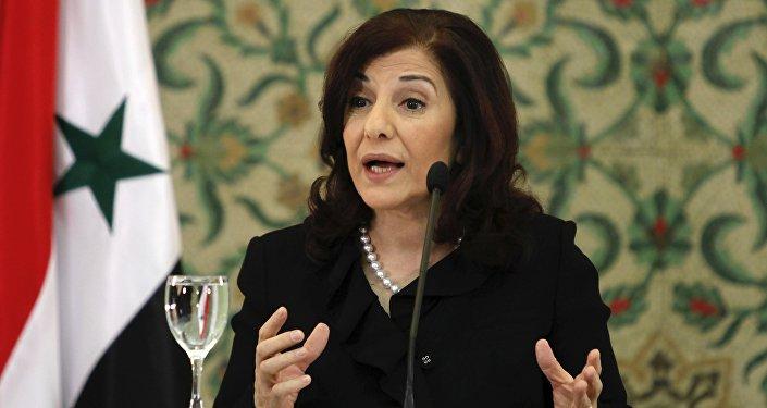 Bouthaina Shaaban, adviser of Syria's President Bashar al-Assad (File)