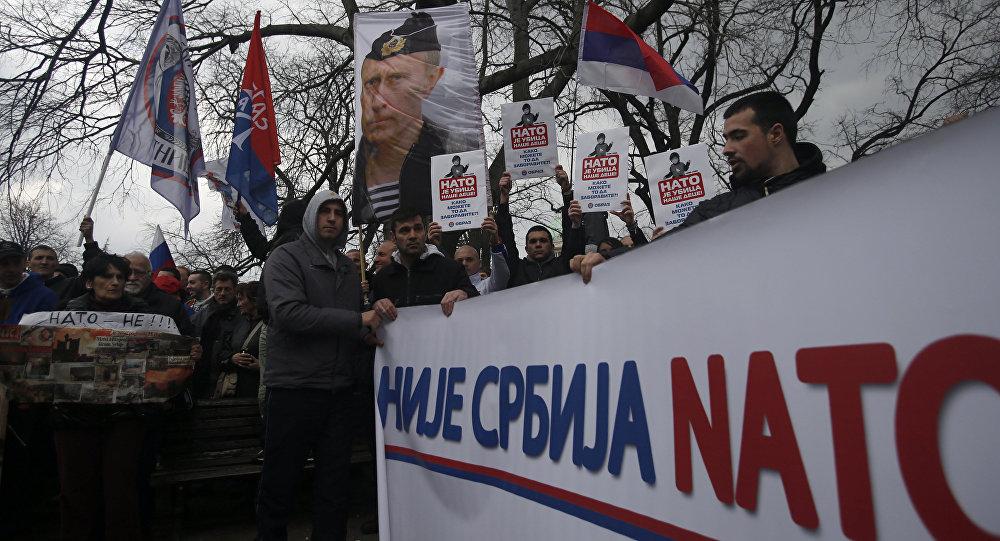 Mass Anti Nato Protest Held In Serbia Video