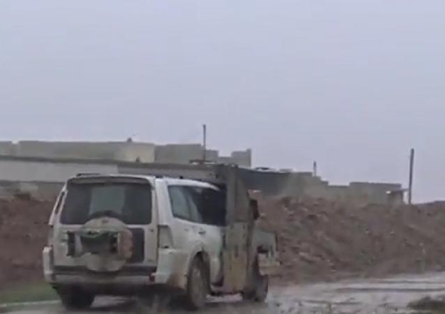a screenshot-Child jihadi kisses father goodbye before blowing himself up