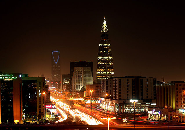 A general view shows the bustling Saudi capital Riyadh