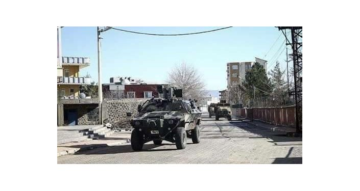 Turkish army's operation against Kurds in Cizre