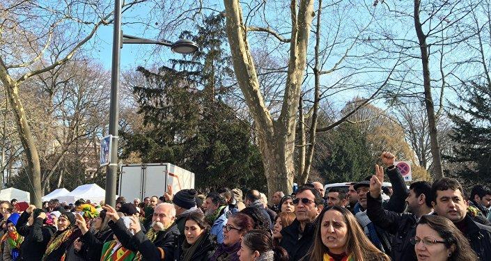 Kurdish women in Europe protest against Turkish atrocities in Cizre
