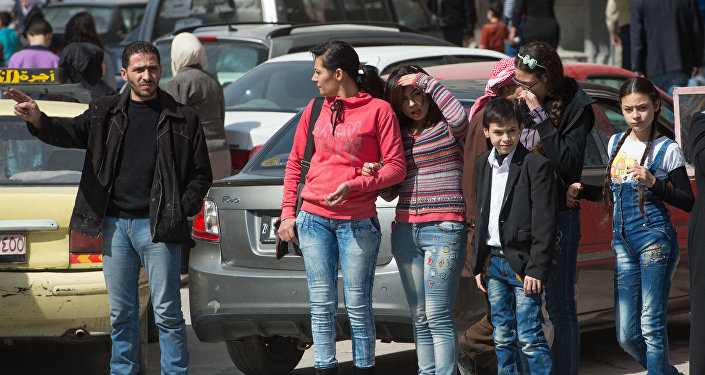 Damascus residents on the streets of the city on the first day of truce
