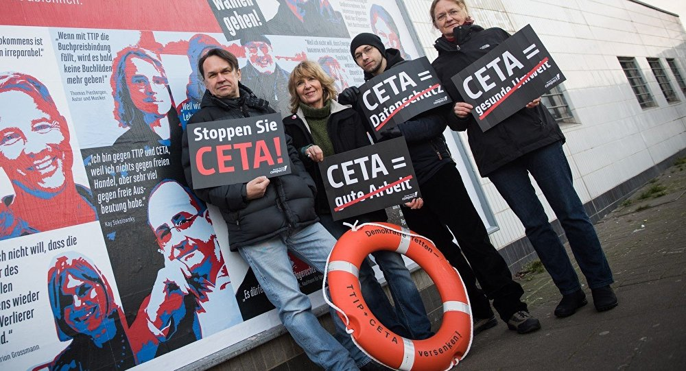 Anti-CETA demonstrators