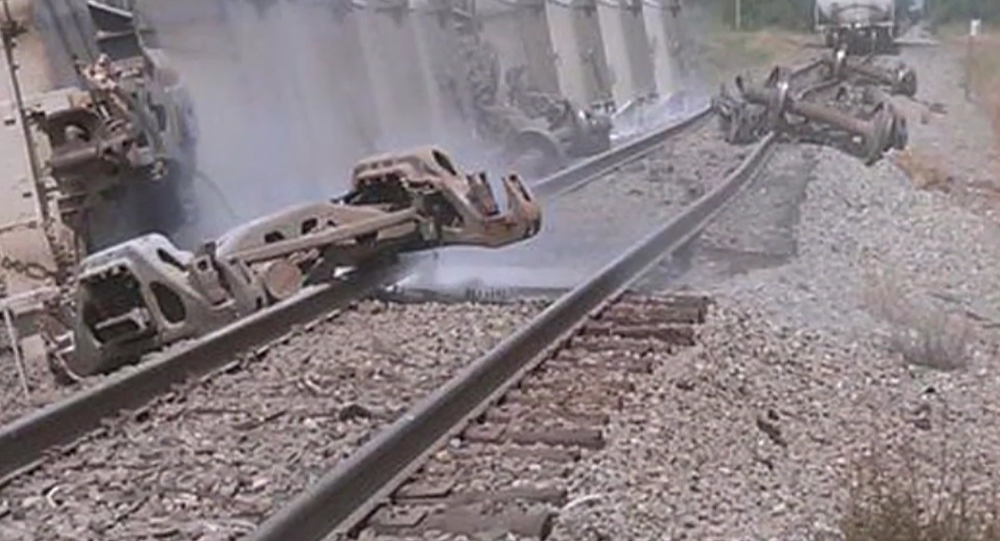 Hazardous leak reported as train derails in Ripley, NY