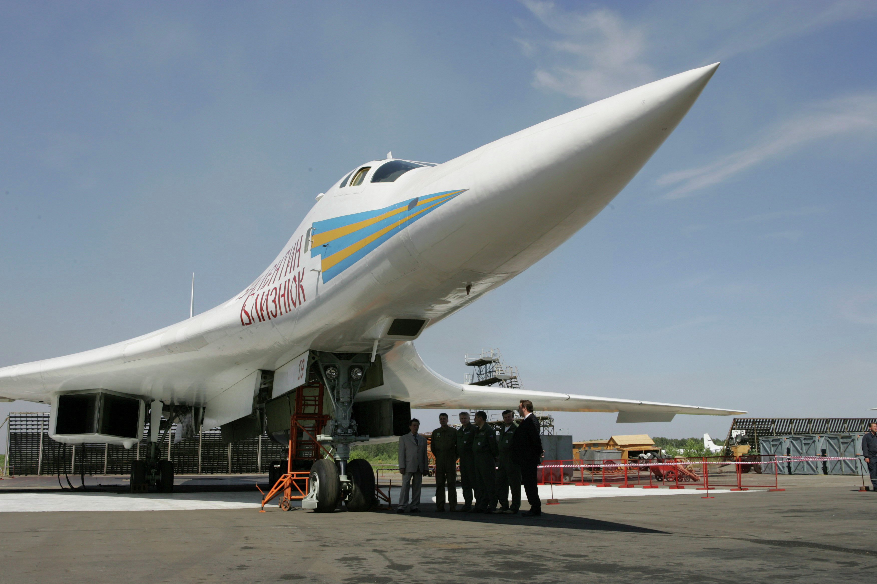 Russian supersonic Tu-160 strategic bomber seen at an airfield near Kazan, about 700 kilometers (450 miles) east of Moscow. file photo