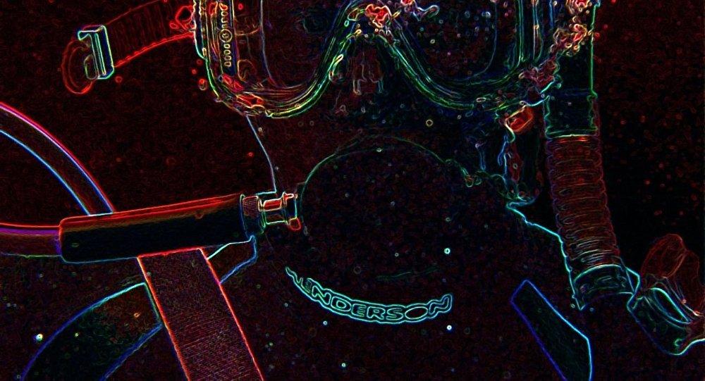 Glowing SCUBA diver
