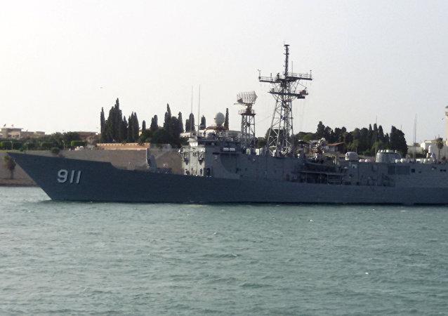 Egyptian navy FFG-7 frigate
