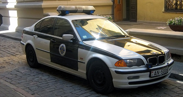 Latvian security service police car