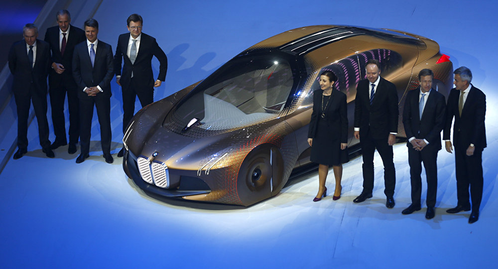 BMW presents the 'Vision Next 100' concept car during centenary celebrations at the Olympic Hall in Munich, southern Germany March 7, 2016