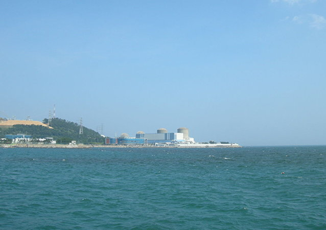 Kori Nuclear Power Plant, Reactors Kori 1, Kori 2, Kori 3, Kori 4 from right to left.