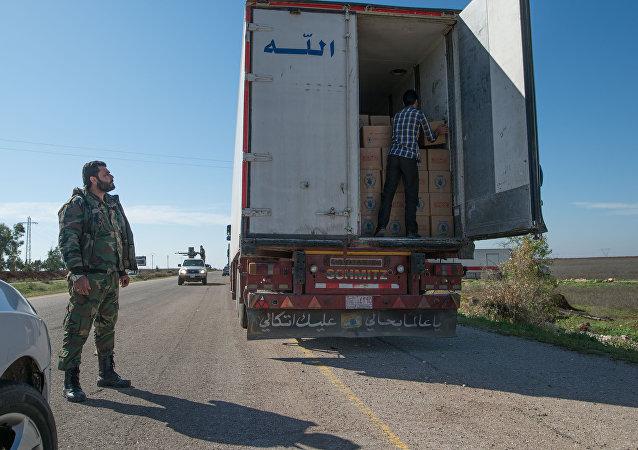 Humanitarian convoy. (File)
