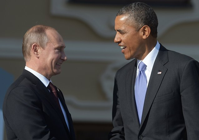 Russian President Vladimir Putin (left) and US President Barack Obama (file)