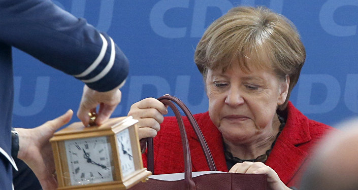 German Chancellor and leader of the Christian Democratic Union (CDU) Angela Merkel, attends a party board meeting in Berlin, Germany March 14, 2016.
