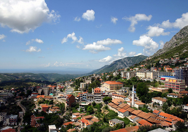 The Albanian town of Kruja