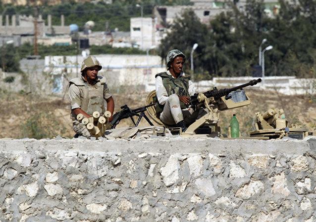 Egyptian soldiers, Rafah, Egypt (file photo)