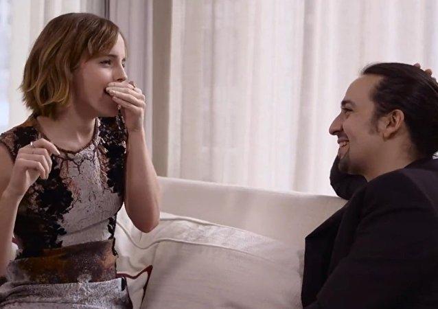 Emma Watson beatboxes for Lin-Manuel Miranda's rap on gender equality