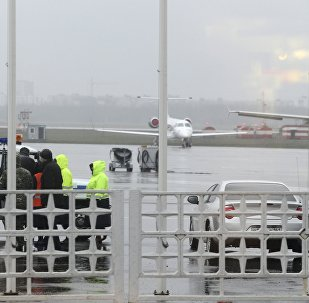 Members of operative services are seen at the airport of Rostov-On-Don, the point of destination of a Flydubai Boeing 737-800 which crashed in Rostov-On-Don, Russia, March 19, 2016.