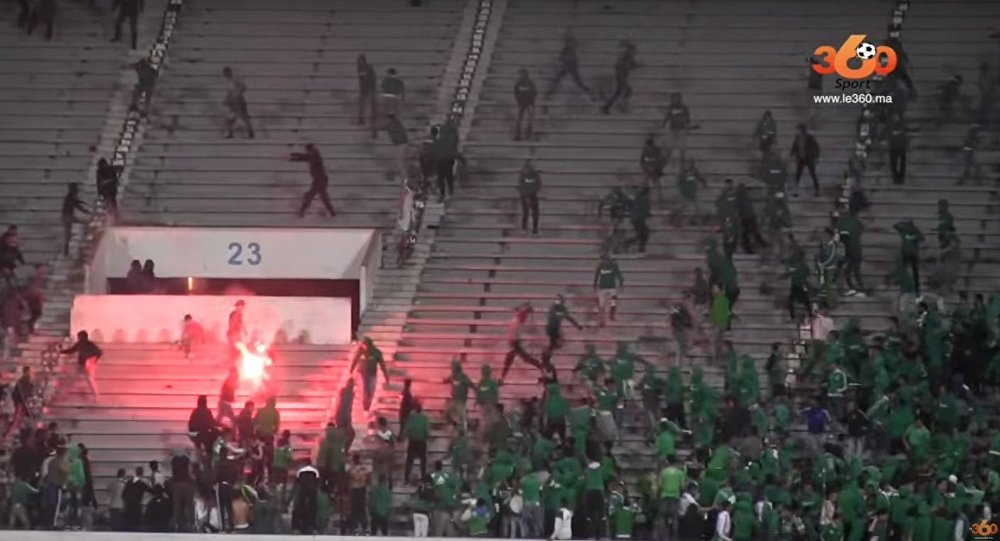 A football match between two local football clubs in Morocco's Casablanca ended up in mass fights