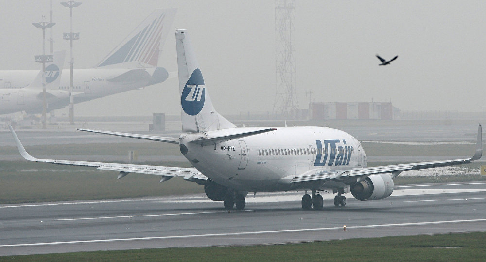 UTair airline's Boeing 737 at Vnukovo Airport