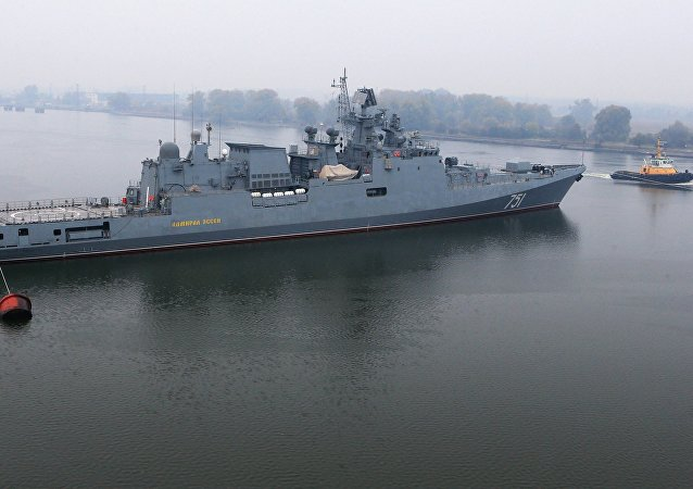 Admiral Essen frigate puts to sea for mechanical run tests. File photo