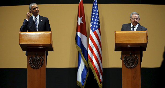 U.S. President Barack Obama and Cuban President Raul Castro attend a news conference as part of President Obama's three-day visit to Cuba, in Havana March 21, 2016