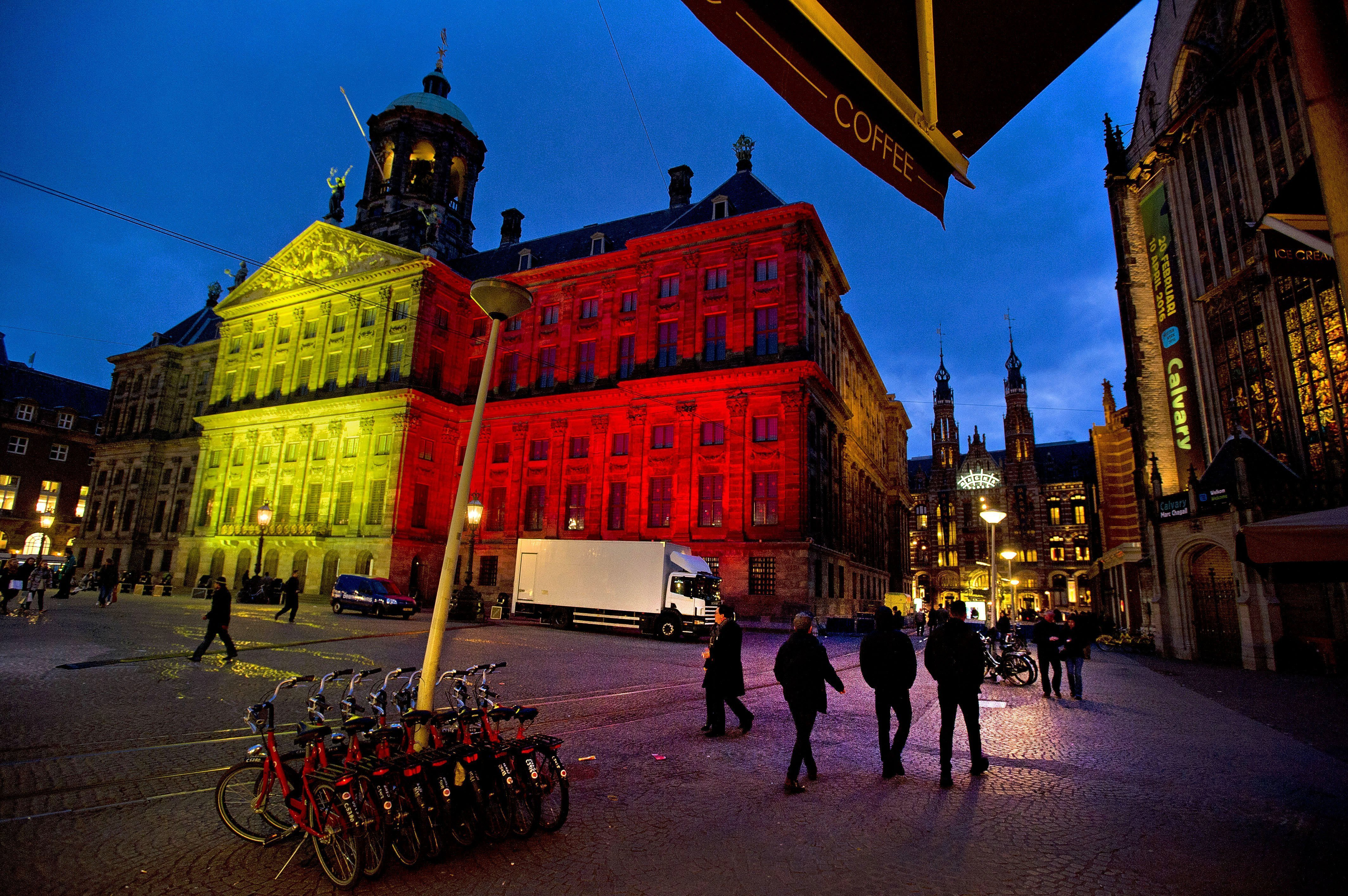 The Royal Palace at Dam Square in Amsterdam