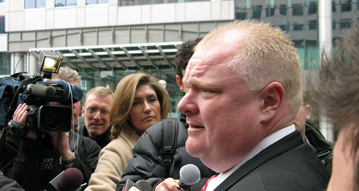 Rob Ford meets the press