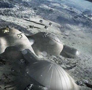 Moon Village, computer render by European Space Agency