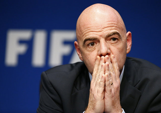 FIFA President Gianni Infantino attends a news conference after the executive committee meeting at the FIFA headquarters in Zurich, Switzerland March 18, 2016.
