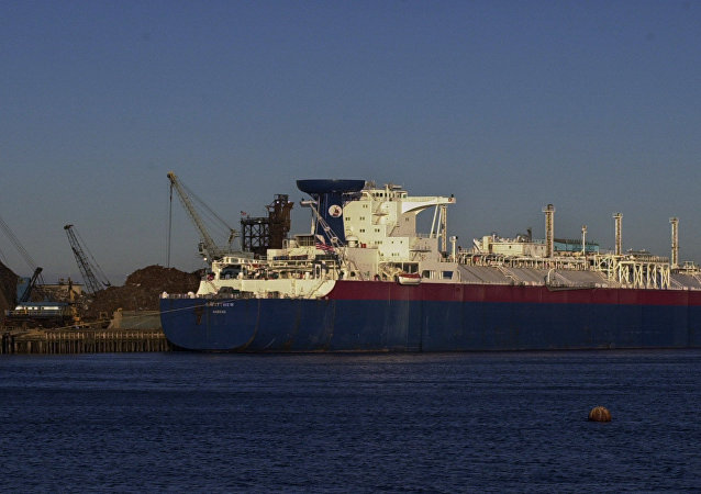 Matthew, a liquefied natural gas tanker, unloads its cargo of 33 million gallons of LNG in Everett, Massachusetts