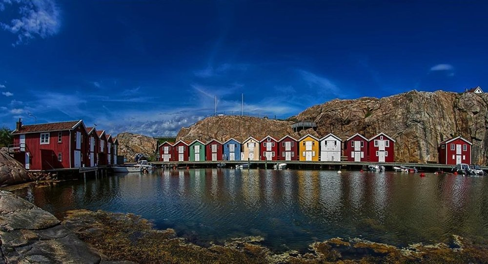 The small fishing village of Smögen on the west coast of Sweden
