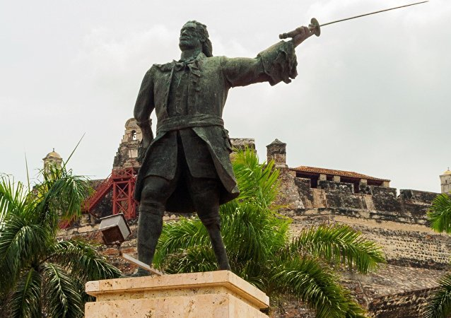 Blas de Lezo Statue in Cartagena de Indias