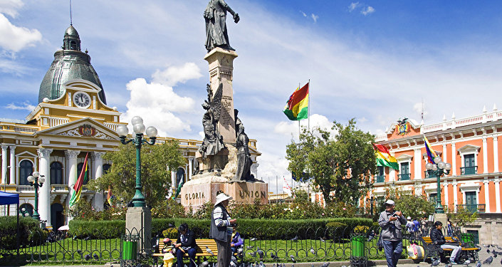 Noon, Plaza Murillo, La Paz, Bolivia