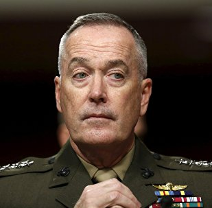 Joint Chiefs of Staff Chair USMC General Joseph Dunford Jr. testifies before the Senate Armed Services Committee hearing on Capitol Hill in Washington March 17, 2016