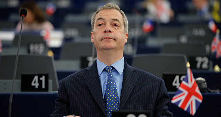 Nigel Farage, leader of the United Kingdom Independence Party (UKIP) and Member of the European Parliament, attends a debate on the outcome of last EU-Turkey summit at the European Parliament in Strasbourg, France, March 9, 2016