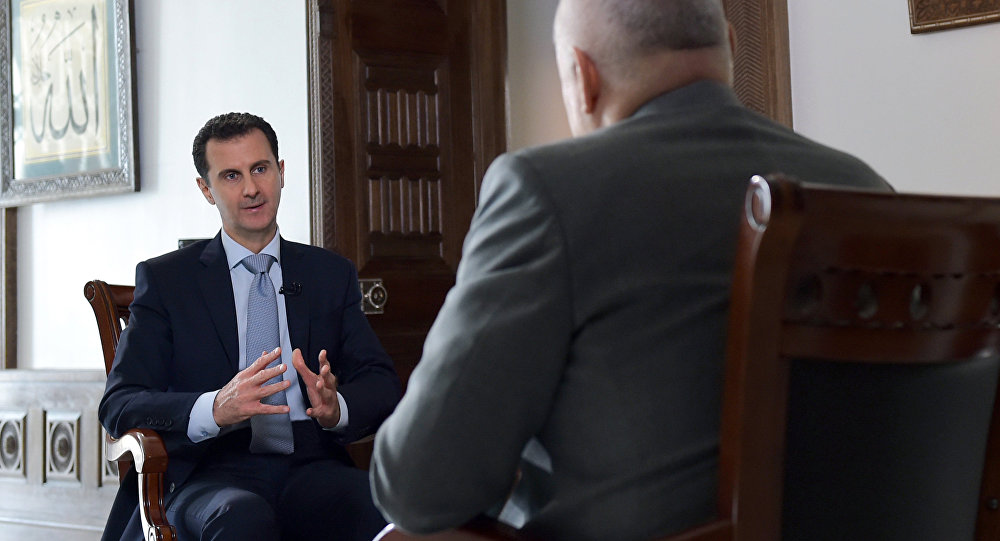 Syrian President Bashar al-Assad's interview with Rossiya Segodnya Director General Dmitry Kiselev