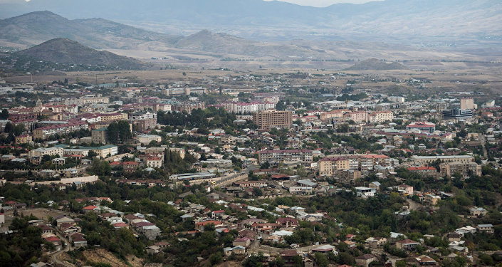 The town of Stepanakert in the self-proclaimed Nagorno-Karabakh Republic.