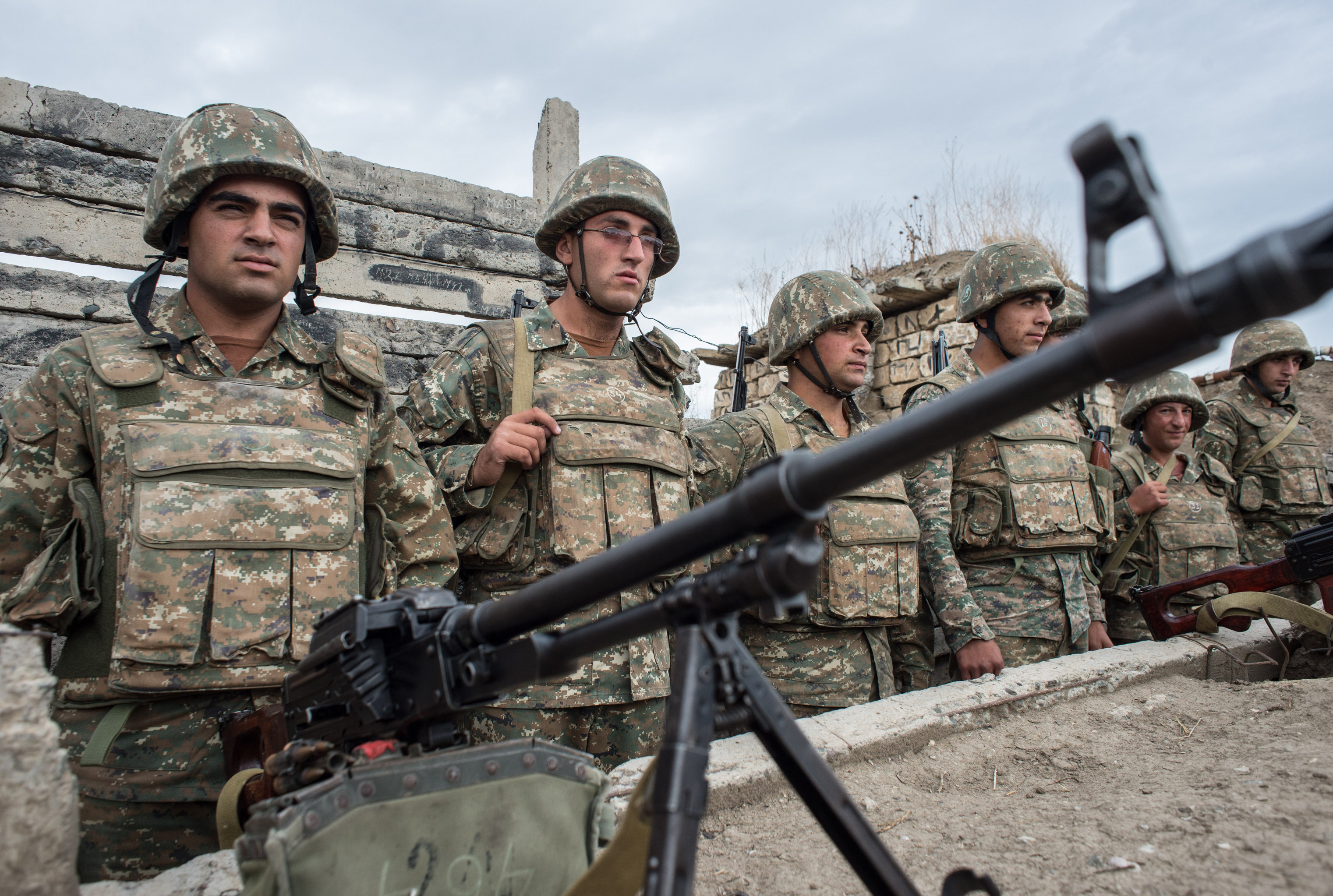 Troops in the zone of the Nagorno-Karabakh conflict
