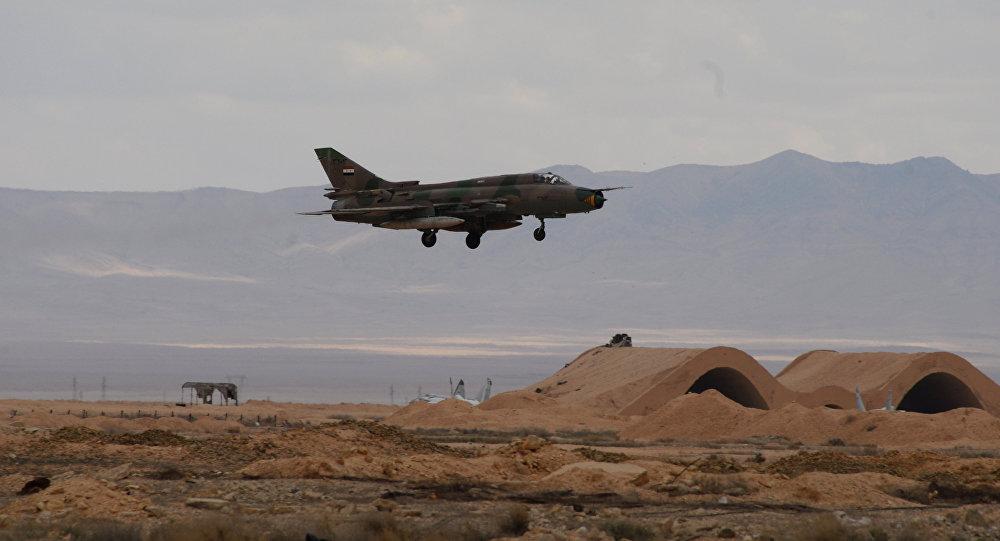 An aircraft of the Syrian Arab Army (SAA) Air Force
