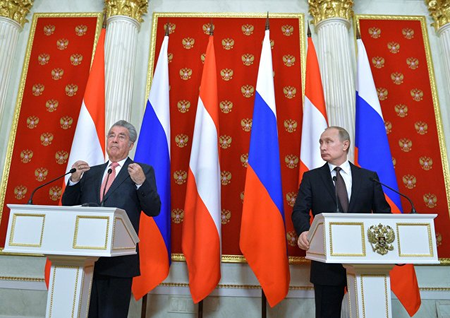 Russian President Vladimir Putin's meeting with President of Austria Heinz Fischer